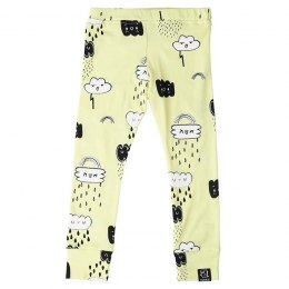 Kukukid Legginsy YELLOW CLOUDS