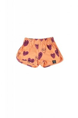 Kukukid Spodenki SHORTS ORANGE HEARTS