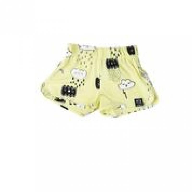 Kukukid Spodenki SHORTS YELLOW CLOUDS