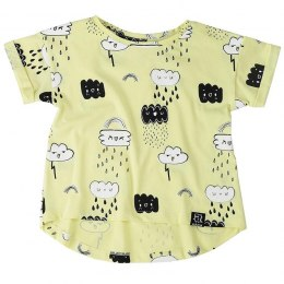 Kukukid T-shirt YELLOW CLOUDS