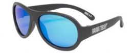 BABIATORS 3-5 lat Aviator Black Ops Black with Blue Lenses z polaryzacją i etui