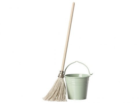 Maileg Wiadro i mop - Bucket and Mop