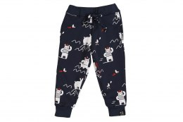 Kukukid spodnie Navy Blue Polar Bear
