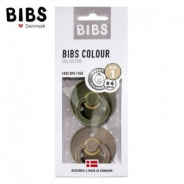 BIBS 2-PACK S GREEN HUNTER & DARK OAK Smoczek Uspokajający Hevea