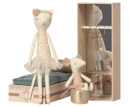 Maileg Baletnice Kot i myszka - Dancing cat & mouse in shoebox