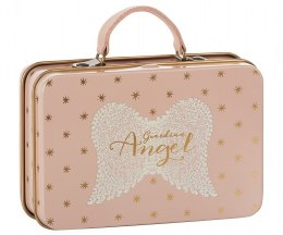 Maileg Walizka na skarby - Metal Suitcase. Rose. Gold stars
